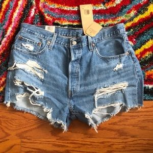 Levi's 501 High Rise Size 34 Jean Short NonStretch